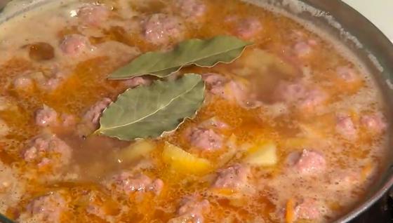Суп с фрикадельками и рисом пошаговый рецепт