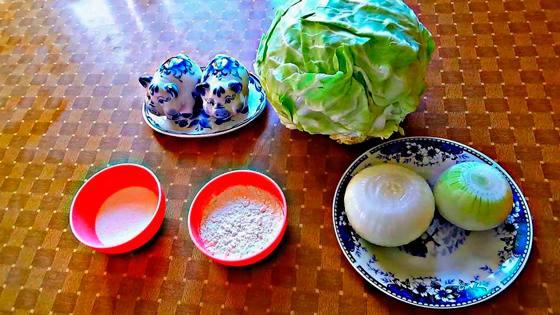 Ингредиенты для капустных котлет