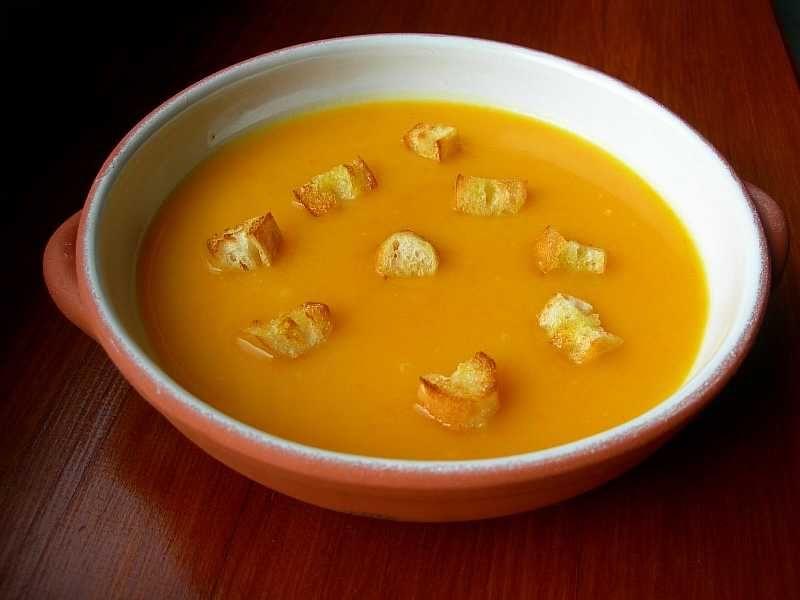 Тыквенный крем суп: рецепт со сливками