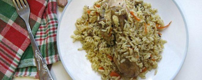 Рис с курицей рецепт с фото пошагово