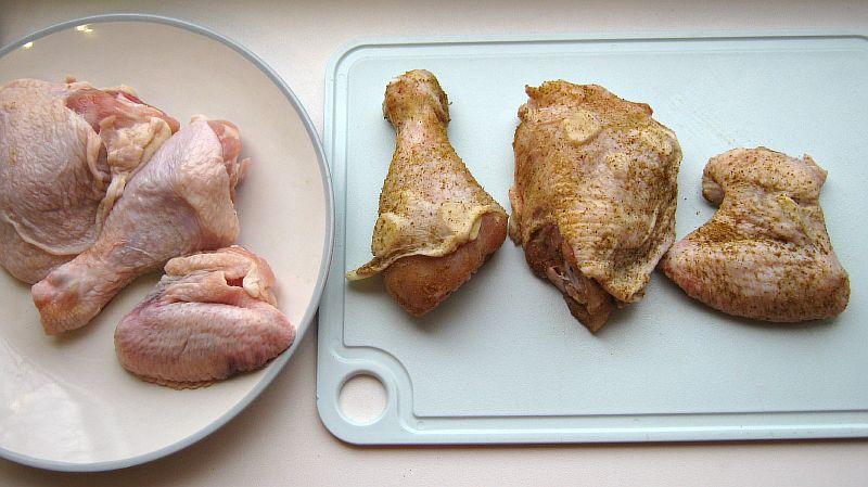 Рис с курицей, готовим бёдра