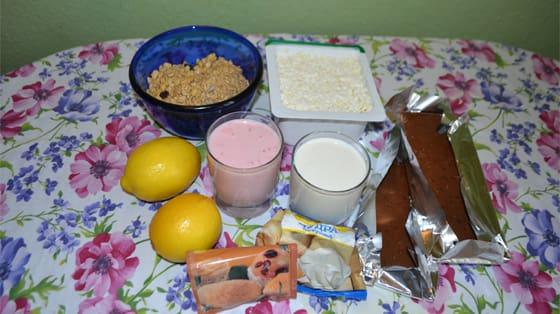 Ингредиенты для йогуртового торта