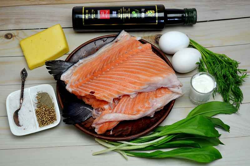 Ингредиенты для паштета из красной рыбы