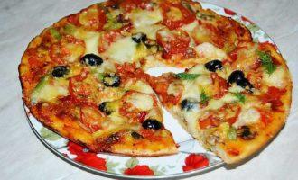 Вегетарианская пицца рецепт в домашних условиях