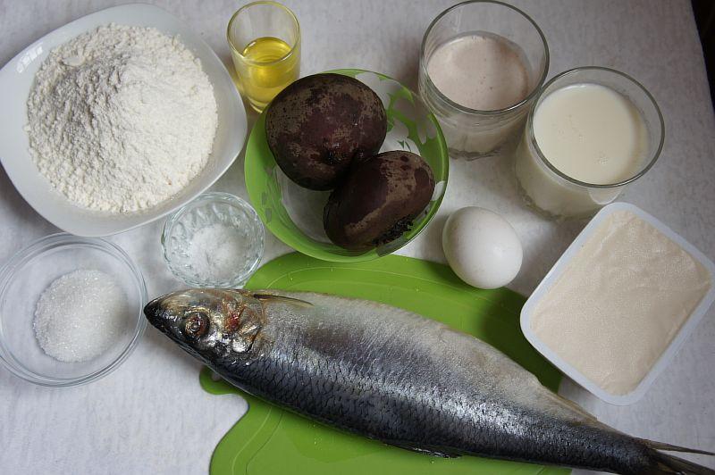 Ингредиенты для свёкольных блинов