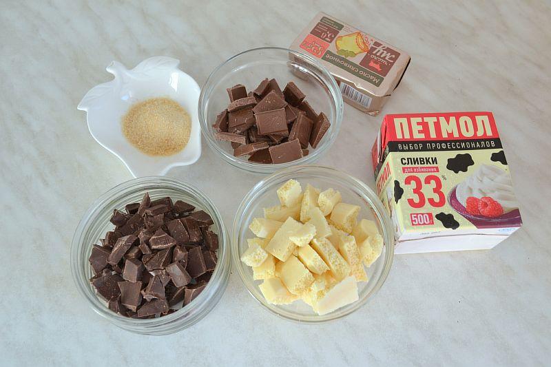 Ингредиенты для суфлейных слоев торта