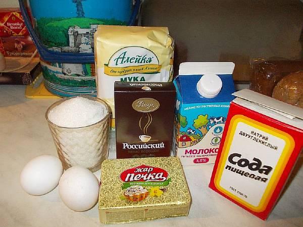 Ингредиенты для шоколадного кекса