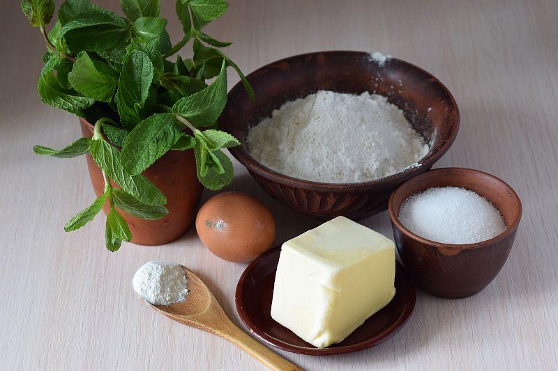 Ингредиенты для мятного печенья