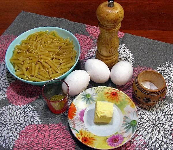 Ингредиенты для макарон по-армянски