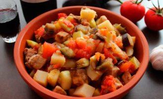 Овощи тушеные калорийность на 100 грамм